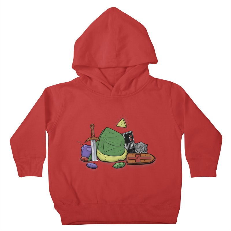 HYRULE LEGEND Kids Toddler Pullover Hoody by UNDEAD MISTER