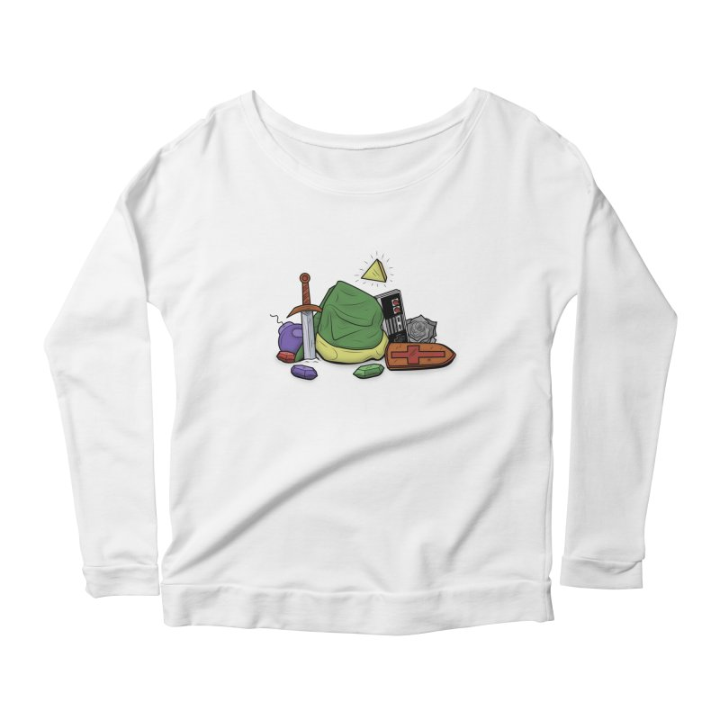 HYRULE LEGEND Women's Longsleeve Scoopneck  by UNDEAD MISTER