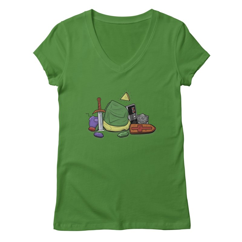 HYRULE LEGEND Women's V-Neck by UNDEAD MISTER