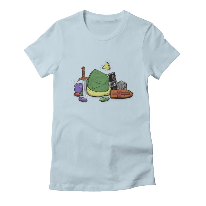 HYRULE LEGEND Women's Fitted T-Shirt by UNDEAD MISTER