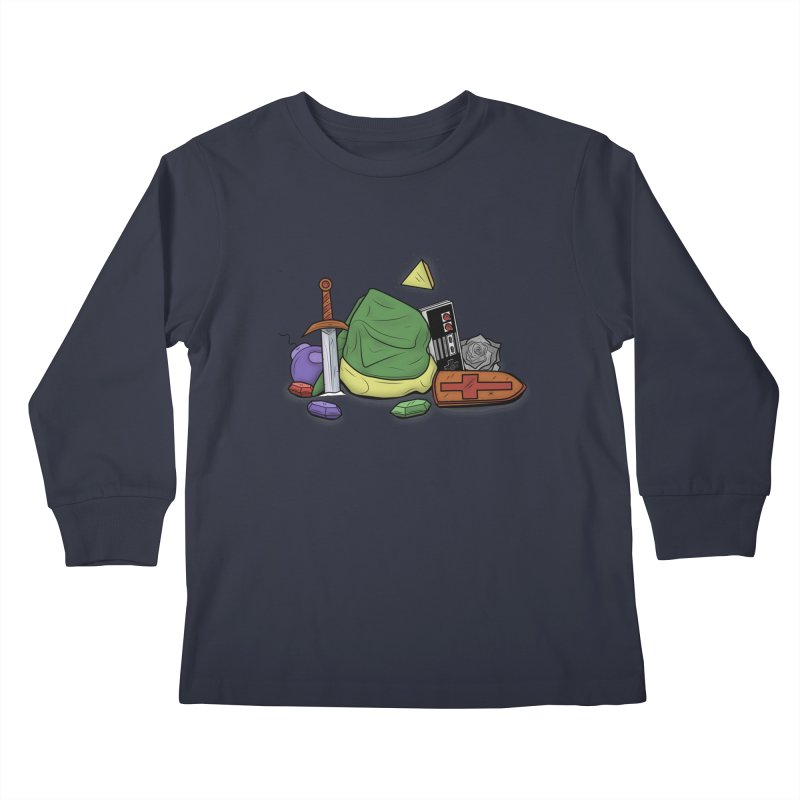 HYRULE LEGEND Kids Longsleeve T-Shirt by UNDEAD MISTER