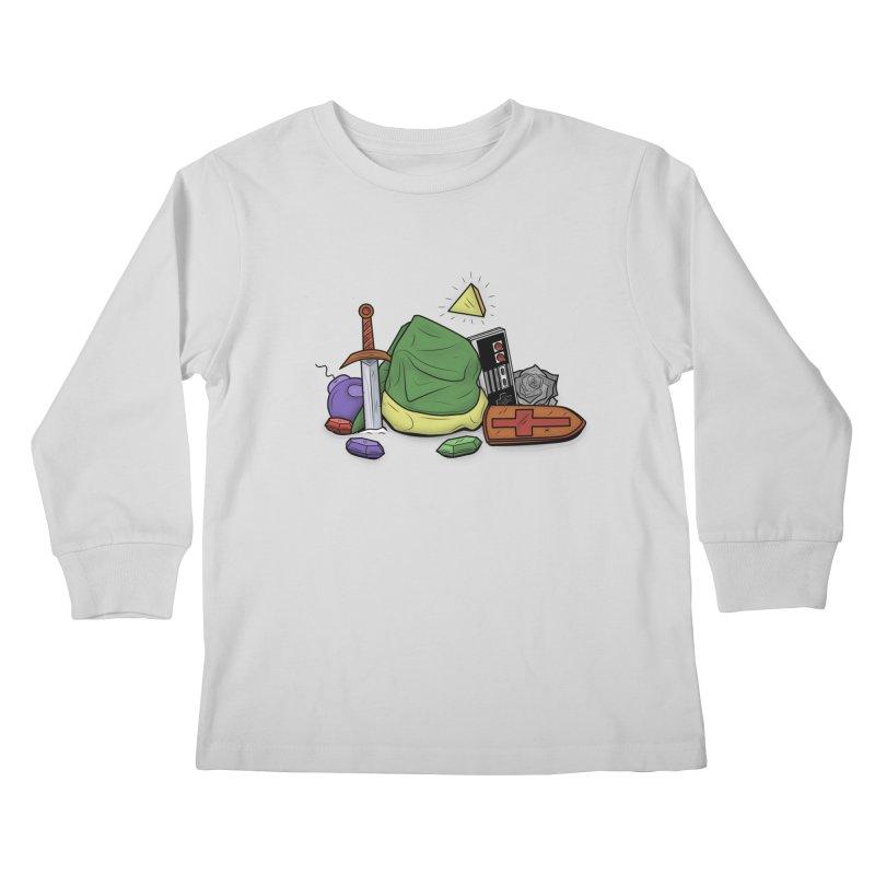HYRULE LEGEND Kids Longsleeve T-Shirt by UNDEAD MISTER