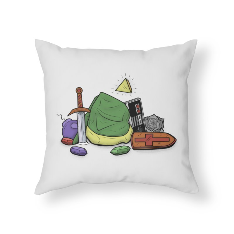 HYRULE LEGEND Home Throw Pillow by UNDEAD MISTER