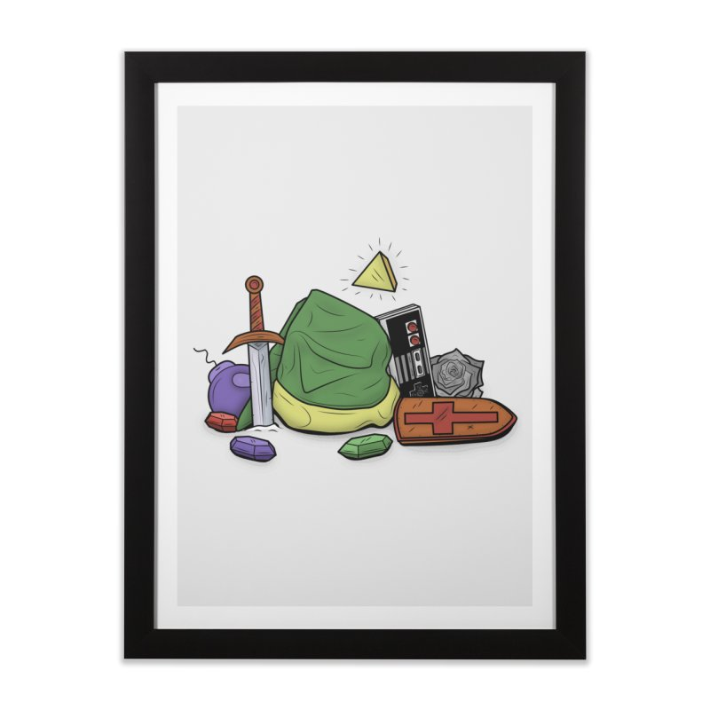 HYRULE LEGEND Home Framed Fine Art Print by UNDEAD MISTER