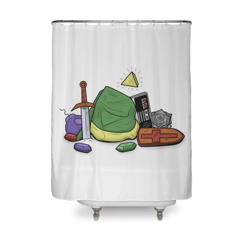 HYRULE LEGEND Home Shower Curtain by UNDEAD MISTER