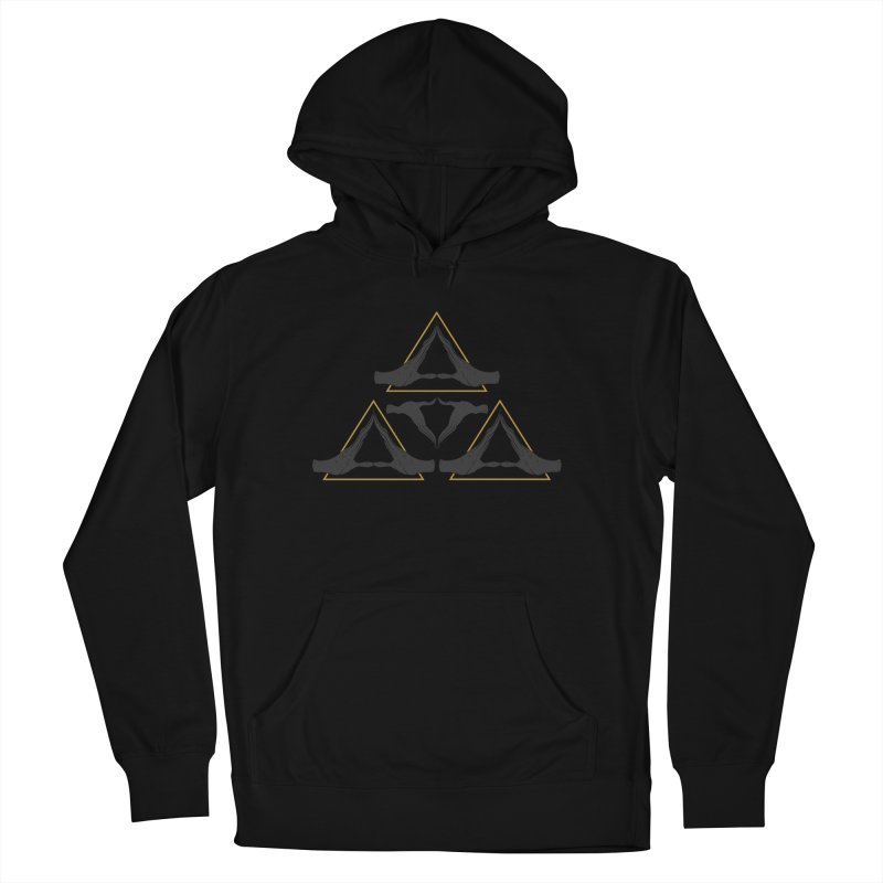 TRIFORCE MONKS Women's French Terry Pullover Hoody by UNDEAD MISTER