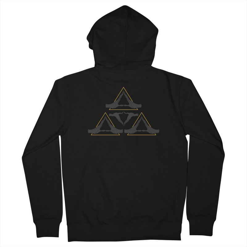 TRIFORCE MONKS Men's French Terry Zip-Up Hoody by UNDEAD MISTER
