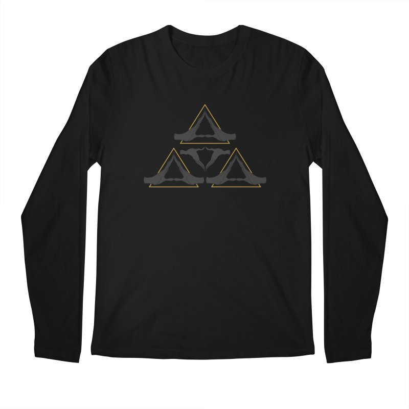 TRIFORCE MONKS Men's Longsleeve T-Shirt by UNDEAD MISTER