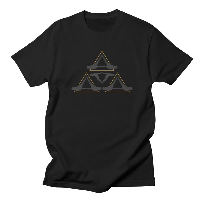 TRIFORCE MONKS Men's T-Shirt by UNDEAD MISTER