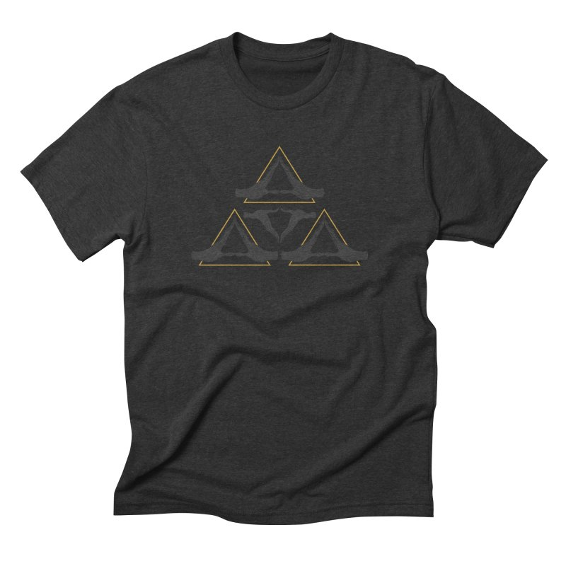 TRIFORCE MONKS Men's Triblend T-Shirt by UNDEAD MISTER