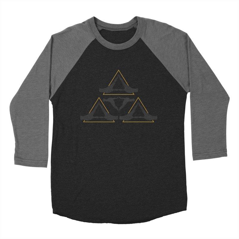 TRIFORCE MONKS Women's Baseball Triblend T-Shirt by UNDEAD MISTER