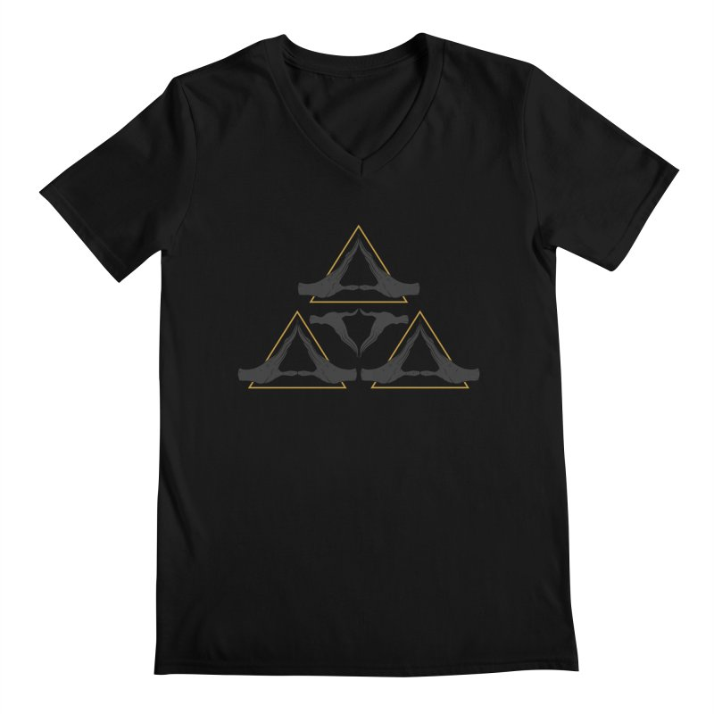 TRIFORCE MONKS Men's V-Neck by UNDEAD MISTER
