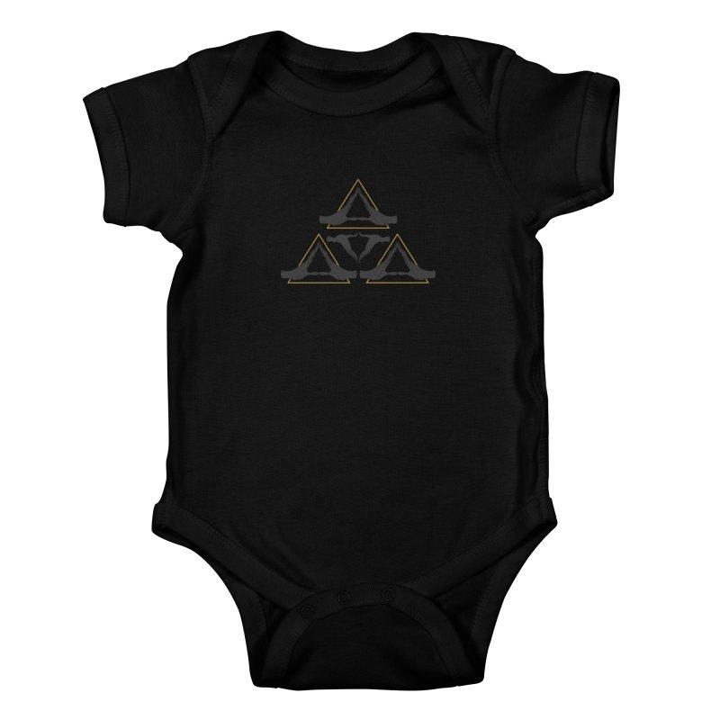 TRIFORCE MONKS Kids Baby Bodysuit by UNDEAD MISTER