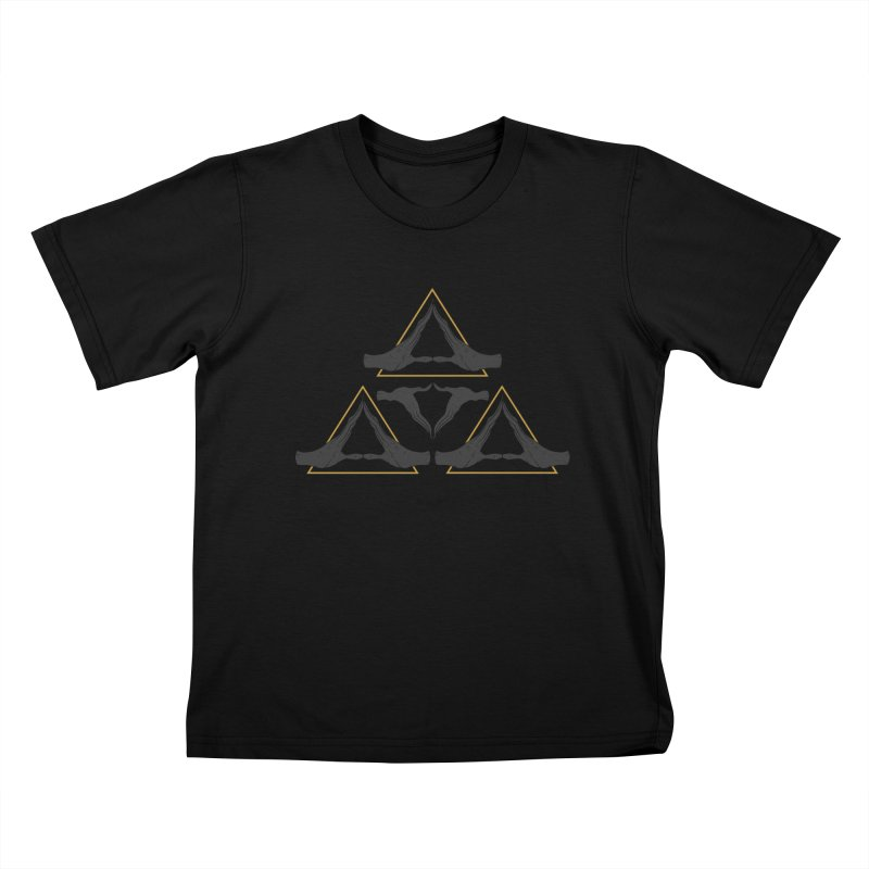 TRIFORCE MONKS Kids Toddler T-Shirt by UNDEAD MISTER