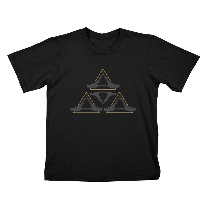 TRIFORCE MONKS Kids T-shirt by UNDEAD MISTER