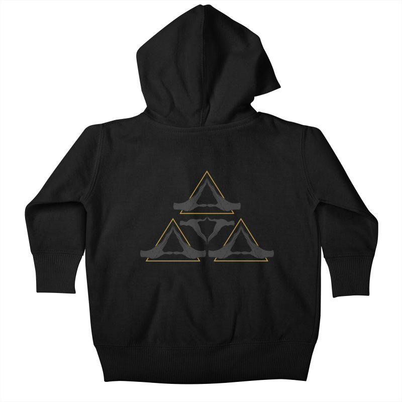 TRIFORCE MONKS Kids Baby Zip-Up Hoody by UNDEAD MISTER