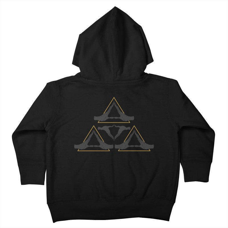 TRIFORCE MONKS Kids Toddler Zip-Up Hoody by UNDEAD MISTER