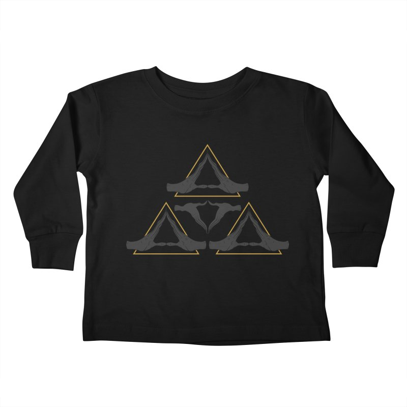 TRIFORCE MONKS Kids Toddler Longsleeve T-Shirt by UNDEAD MISTER