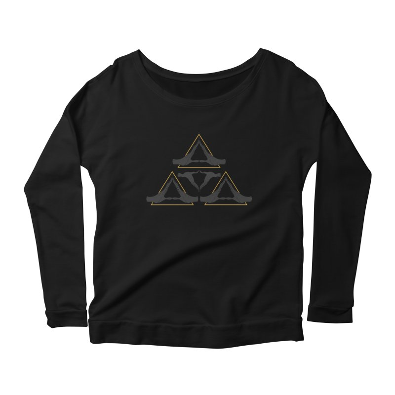TRIFORCE MONKS Women's Longsleeve Scoopneck  by UNDEAD MISTER