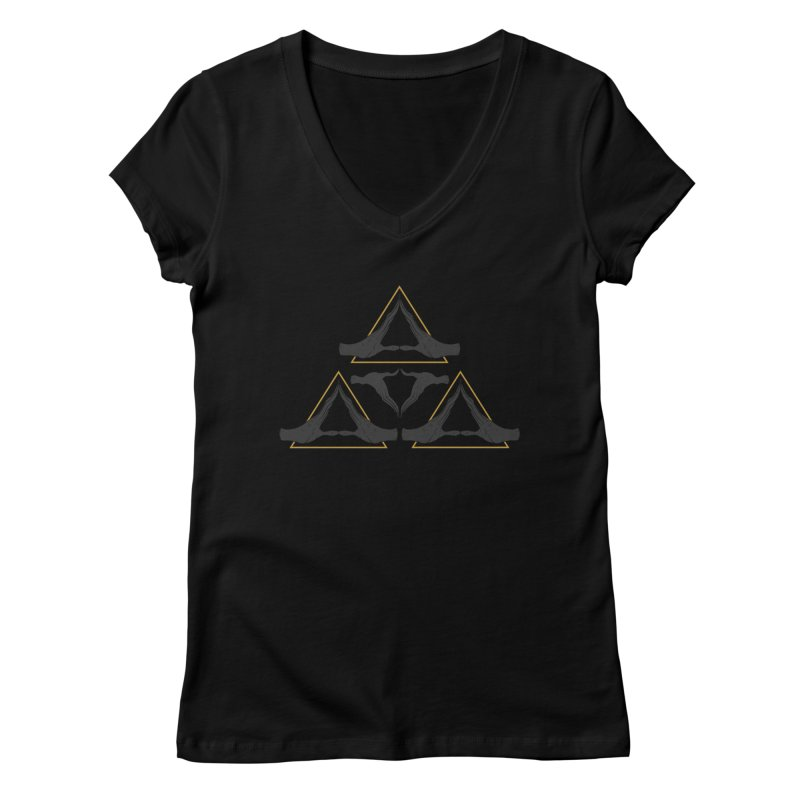 TRIFORCE MONKS Women's V-Neck by UNDEAD MISTER