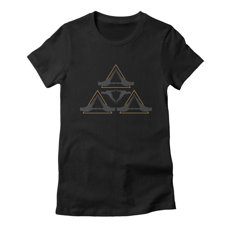 TRIFORCE MONKS Women's Fitted T-Shirt by UNDEAD MISTER