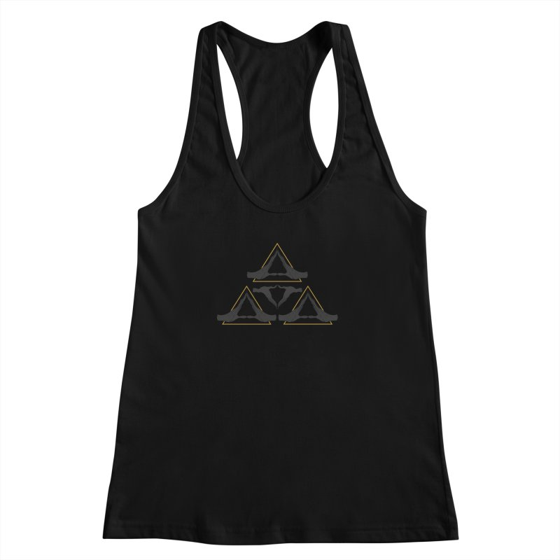 TRIFORCE MONKS Women's Racerback Tank by UNDEAD MISTER