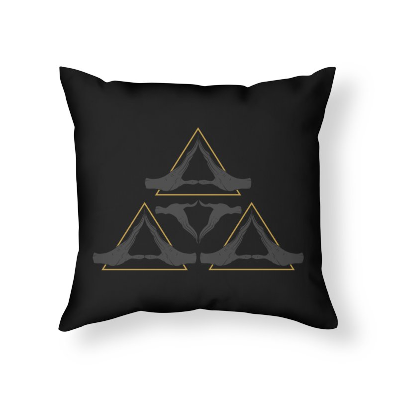TRIFORCE MONKS Home Throw Pillow by UNDEAD MISTER