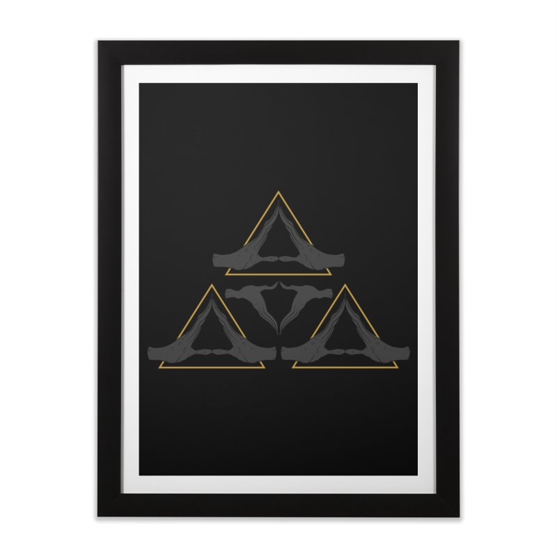 TRIFORCE MONKS Home Framed Fine Art Print by UNDEAD MISTER