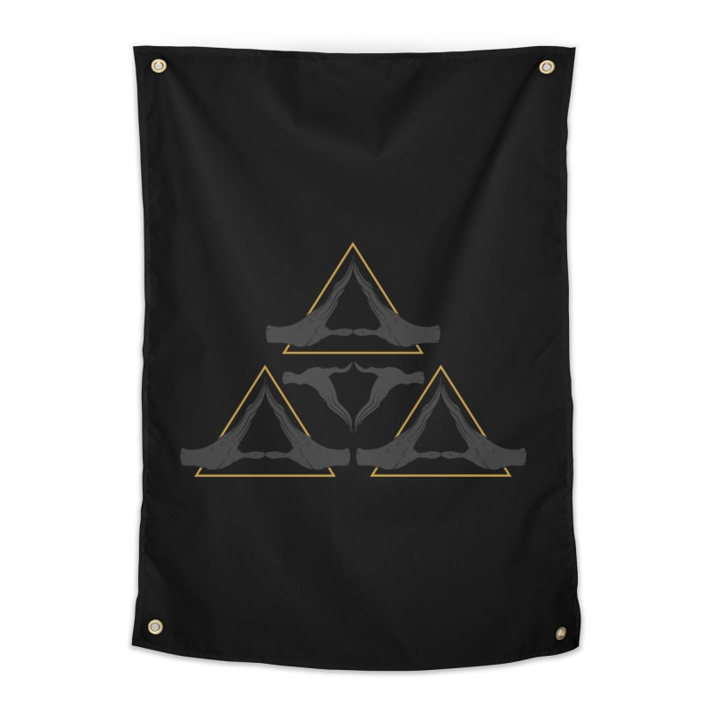 TRIFORCE MONKS Home Tapestry by UNDEAD MISTER