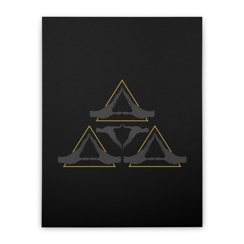 TRIFORCE MONKS Home Stretched Canvas by UNDEAD MISTER