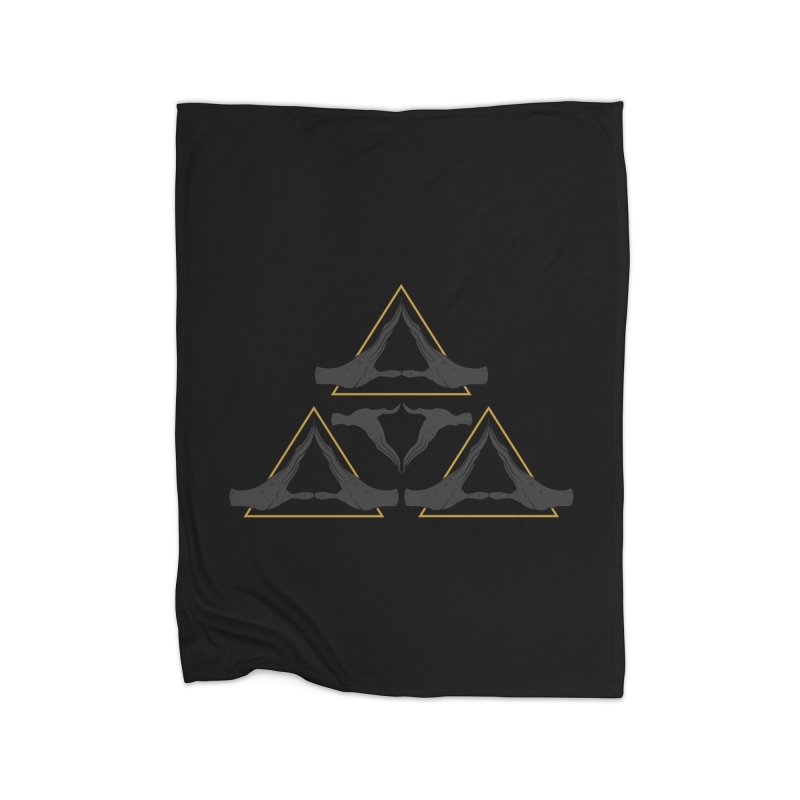 TRIFORCE MONKS Home Blanket by UNDEAD MISTER