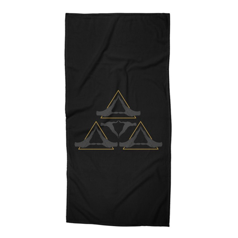 TRIFORCE MONKS Accessories Beach Towel by UNDEAD MISTER