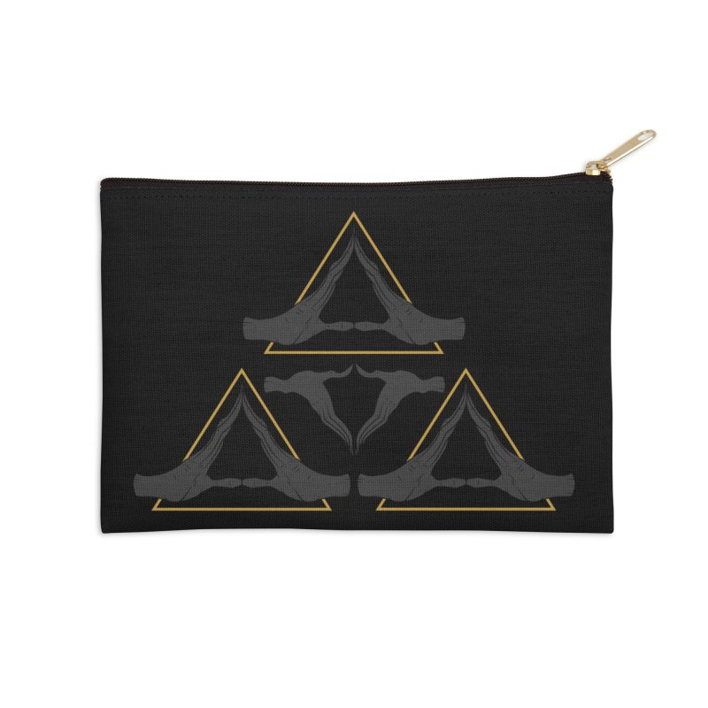 TRIFORCE MONKS Accessories Zip Pouch by UNDEAD MISTER
