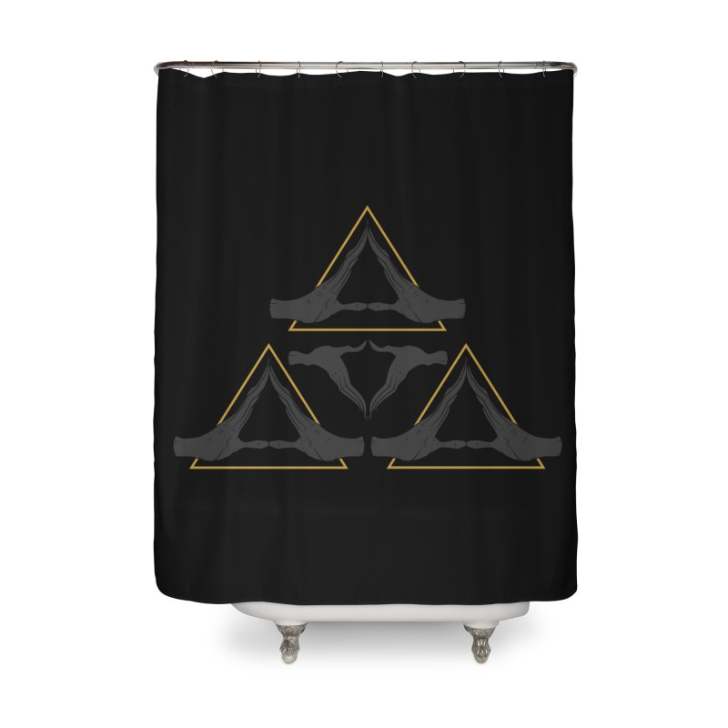 TRIFORCE MONKS Home Shower Curtain by UNDEAD MISTER