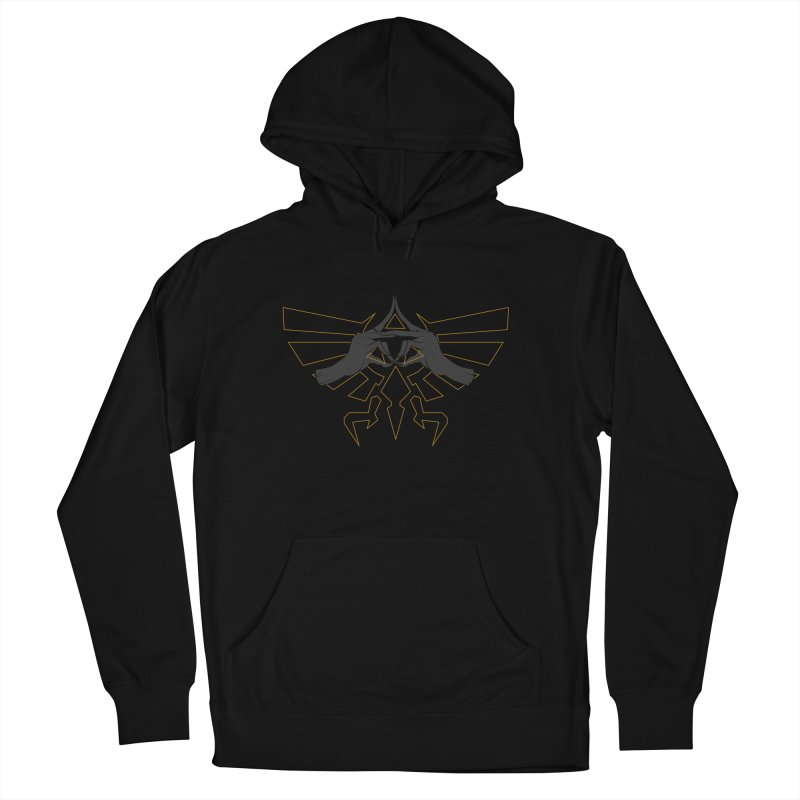 TRIFORCE HANDS Women's French Terry Pullover Hoody by UNDEAD MISTER