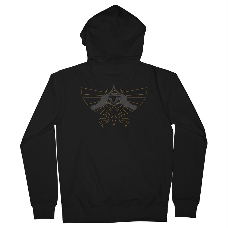 TRIFORCE HANDS Men's French Terry Zip-Up Hoody by UNDEAD MISTER