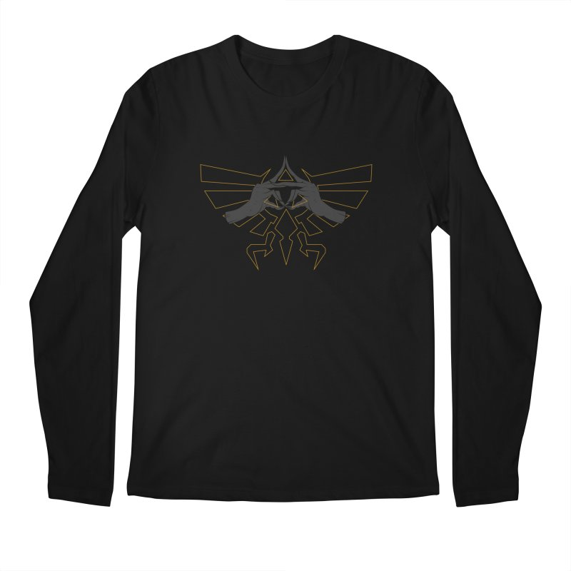 TRIFORCE HANDS Men's Longsleeve T-Shirt by UNDEAD MISTER