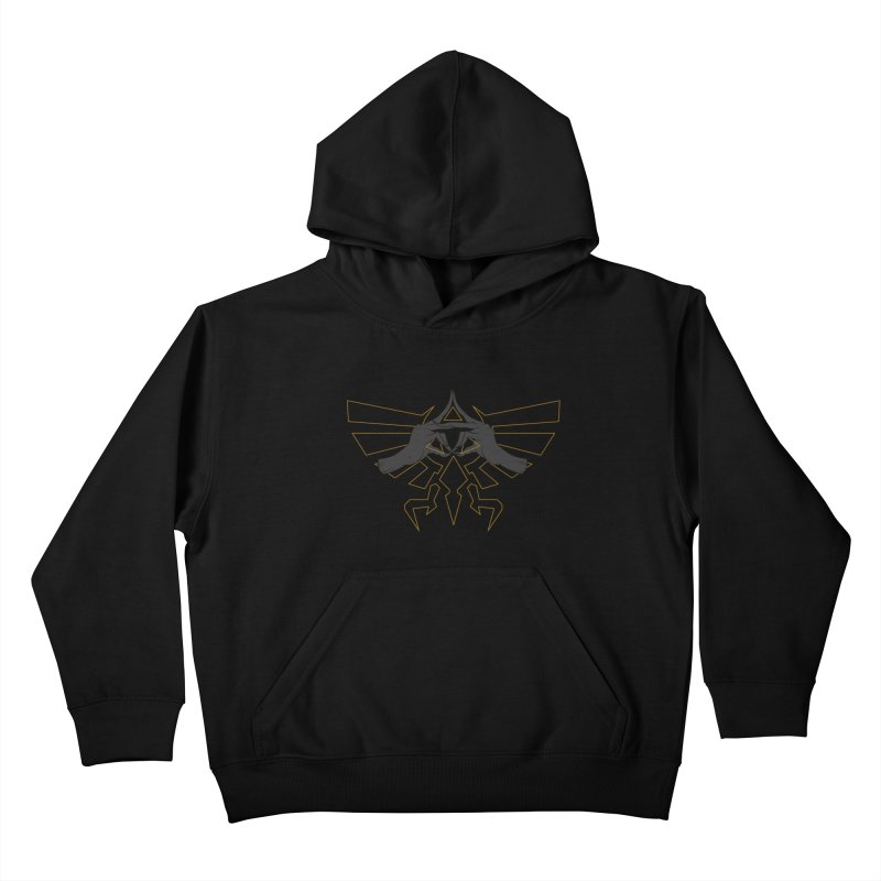 TRIFORCE HANDS Kids Pullover Hoody by UNDEAD MISTER