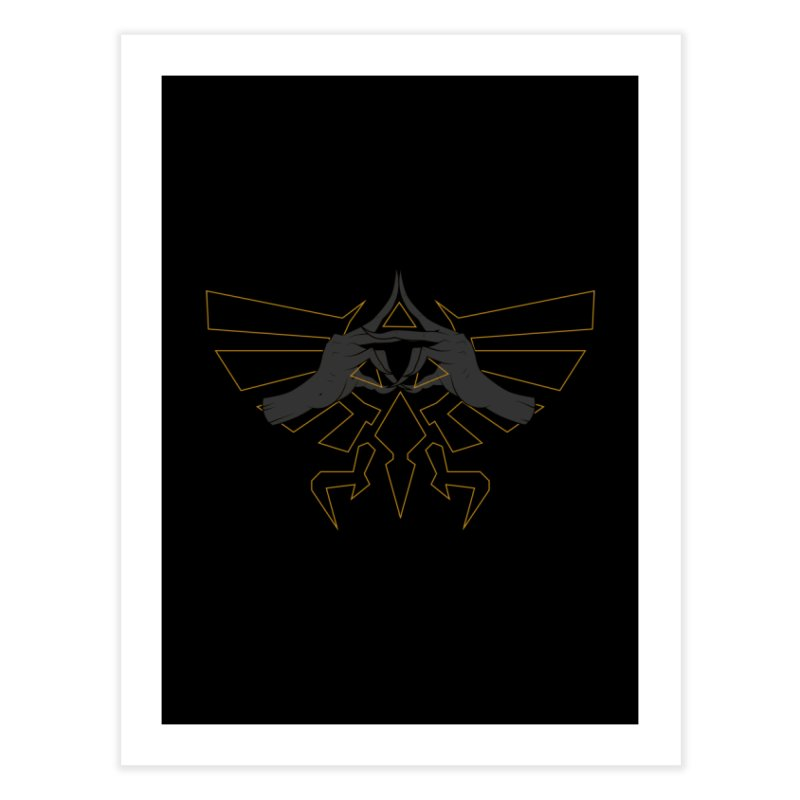 TRIFORCE HANDS Home Fine Art Print by UNDEAD MISTER
