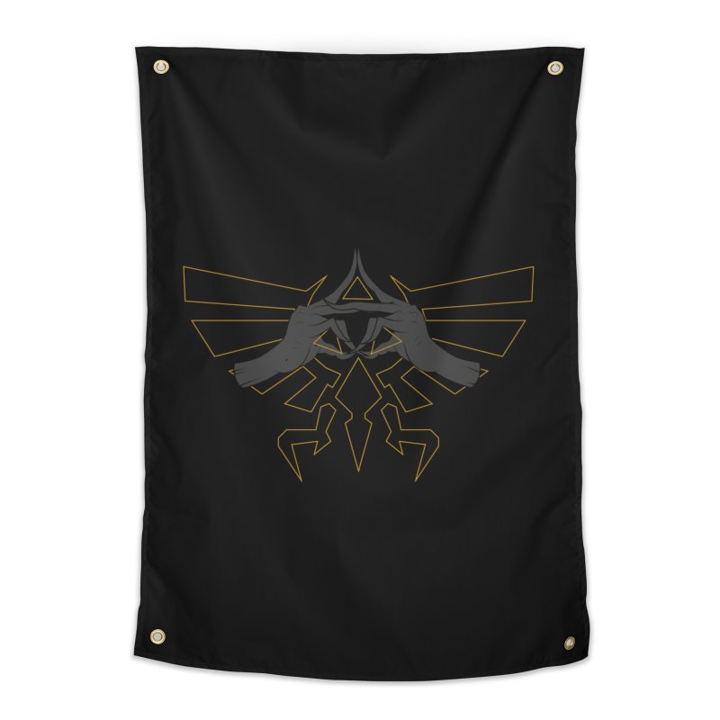 TRIFORCE HANDS Home Tapestry by UNDEAD MISTER
