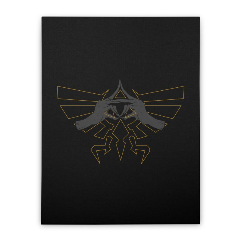 TRIFORCE HANDS Home Stretched Canvas by UNDEAD MISTER
