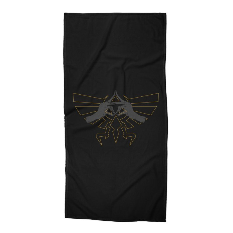 TRIFORCE HANDS Accessories Beach Towel by UNDEAD MISTER