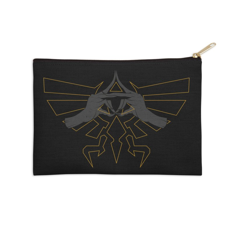 TRIFORCE HANDS Accessories Zip Pouch by UNDEAD MISTER