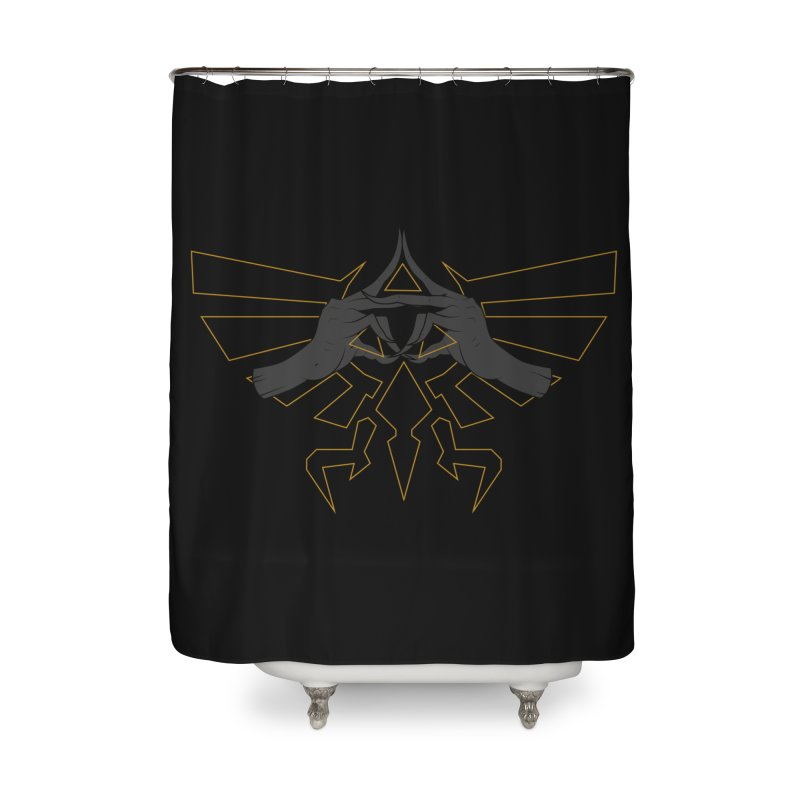TRIFORCE HANDS Home Shower Curtain by UNDEAD MISTER