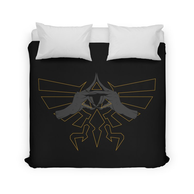 TRIFORCE HANDS Home Duvet by UNDEAD MISTER