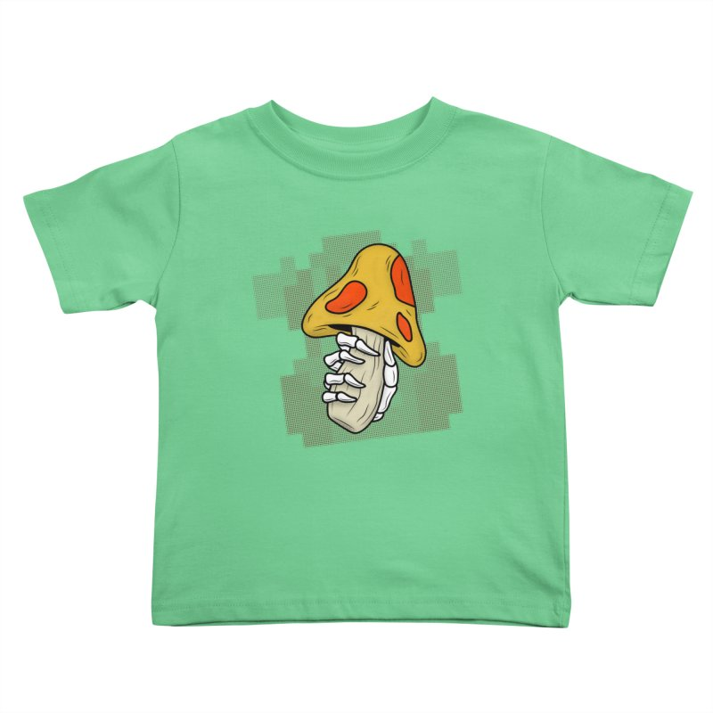 MUSHROOM KINGDOM MAGIC MUSHROOM Kids Toddler T-Shirt by UNDEAD MISTER