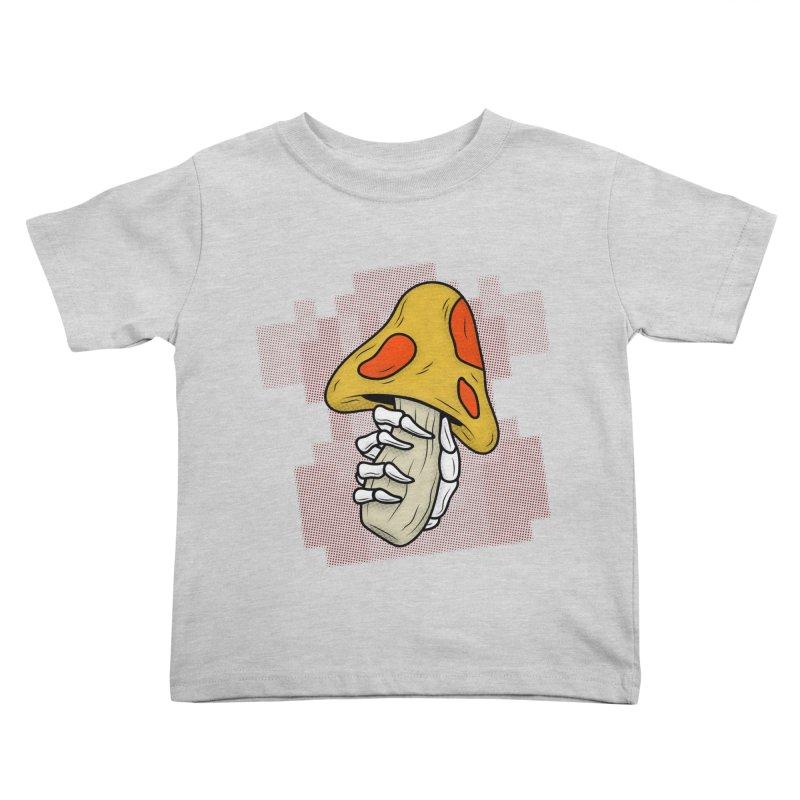 MUSHROOM KINGDOM MAGIC MUSHROOM Kids Toddler T-Shirt by UNDEAD MISTER