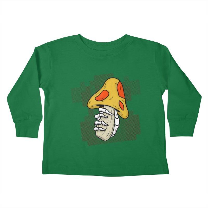 MUSHROOM KINGDOM MAGIC MUSHROOM Kids Toddler Longsleeve T-Shirt by UNDEAD MISTER