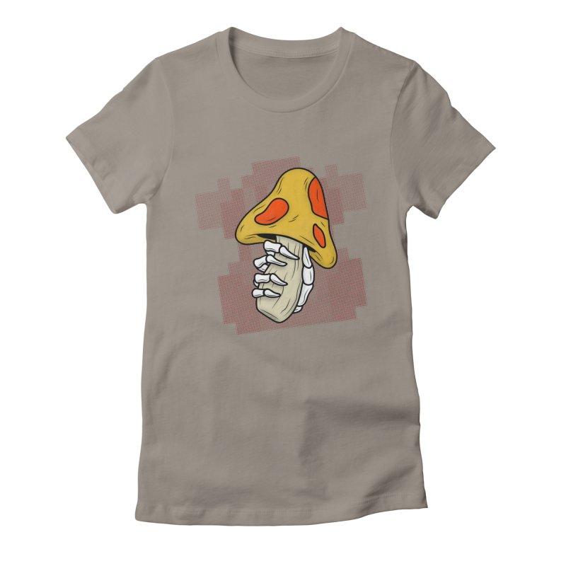 MUSHROOM KINGDOM MAGIC MUSHROOM Women's Fitted T-Shirt by UNDEAD MISTER