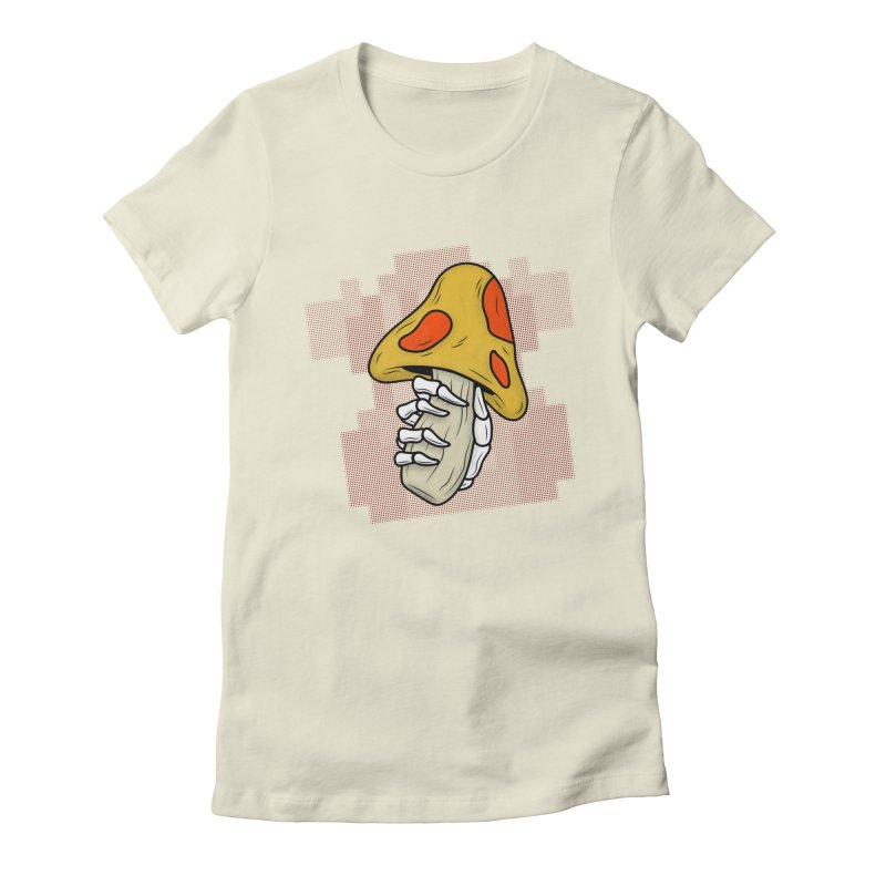 MUSHROOM KINGDOM MAGIC MUSHROOM Women's Fitted T-Shirt by UNDEAD MISTER